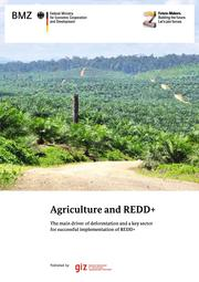 GIZ 2013: Agriculture and REDD+ The main driver of deforestation and a key sector for successful implementation of REDD+