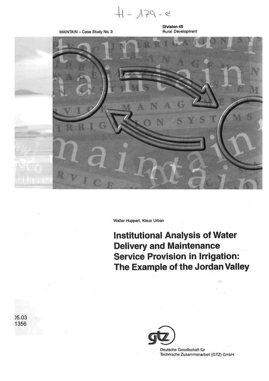 File:GIZ, Huppert,W. (1999) Institutional Analysis of Water Delivery and Maintenance ...pdf