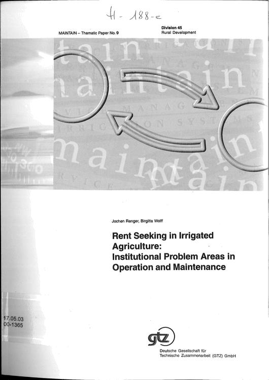 File:GIZ, Renger, J., Wolff, B. (2000) Rent seeking in irrigated agriculture.pdf