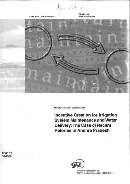 File:GIZ, Svendsen, M., Huppert,W. (2000) Incentive creation for irrigation system maintenance and water delivery.pdf