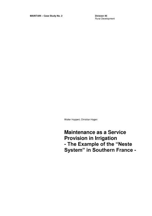 File:GIZ, Huppert, W., Hagen, C. (1999) Maintenance as a Service Provision in Irrigation.pdf